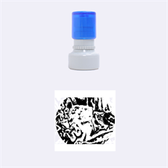 Man And Woman Rubber Round Stamps (small)