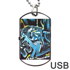 Man and Woman Dog Tag USB Flash (Two Sides)