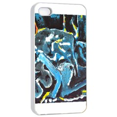 Man and Woman Apple iPhone 4/4s Seamless Case (White)