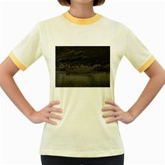 Boat Cruise Women s Fitted Ringer T-Shirts