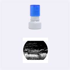 Boat Cruise Rubber Round Stamps (Small)