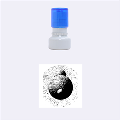 Liquid Moons Rubber Round Stamps (Small)