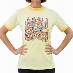 Soul Colour Light Women s Fitted Ringer T-Shirts