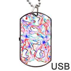 Soul Colour Light Dog Tag USB Flash (Two Sides)