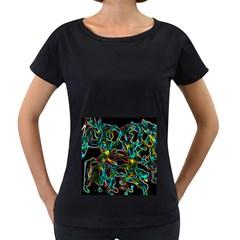 Soul Colour Women s Loose-Fit T-Shirt (Black)