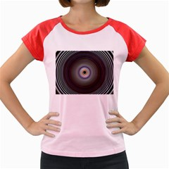 Colour Twirl Women s Cap Sleeve T Shirt