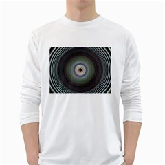 Colour Twirl White Long Sleeve T-Shirts