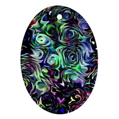 Colour Play Flowers Ornament (oval)