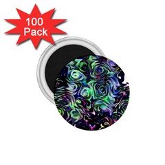 Colour Play Flowers 1 75  Magnets (100 Pack)