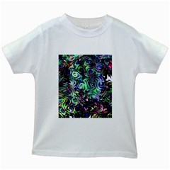 Colour Play Flowers Kids White T-Shirts