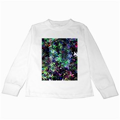 Colour Play Flowers Kids Long Sleeve T-Shirts