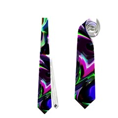 Colour Play Flowers Neckties (one Side)