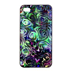 Colour Play Flowers Apple iPhone 4/4s Seamless Case (Black)