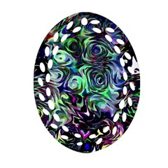 Colour Play Flowers Ornament (Oval Filigree)