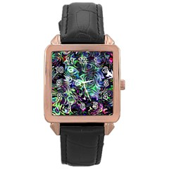 Colour Play Flowers Rose Gold Watches