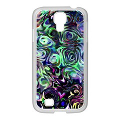 Colour Play Flowers Samsung Galaxy S4 I9500/ I9505 Case (white)