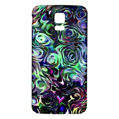 Colour Play Flowers Samsung Galaxy S5 Back Case (White)