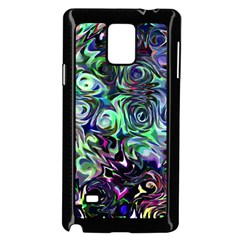 Colour Play Flowers Samsung Galaxy Note 4 Case (black)