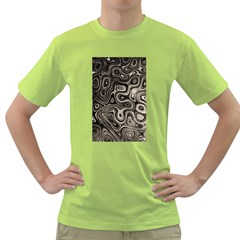 Tile Reflections Alien Skin Dark Green T Shirt