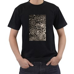 Tile Reflections Alien Skin Dark Men s T Shirt (black) (two Sided)