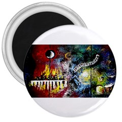 Abstract Music Painting 3  Magnets