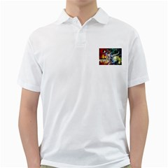 Abstract Music Painting Golf Shirts