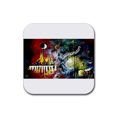 Abstract Music Painting Rubber Coaster (square)