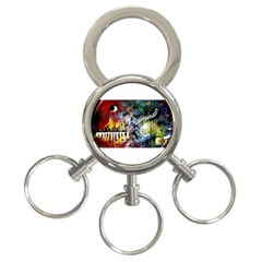 Abstract Music Painting 3 Ring Key Chains