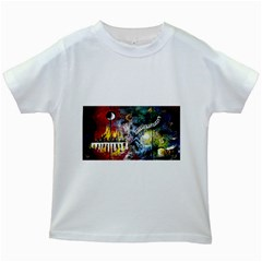 Abstract Music Painting Kids White T-Shirts