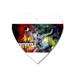 Abstract Music Painting Heart Magnet