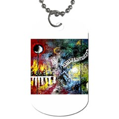 Abstract Music Painting Dog Tag (one Side)