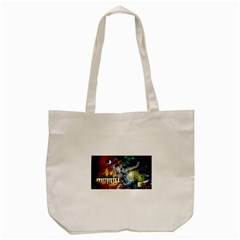 Abstract Music Painting Tote Bag (Cream)