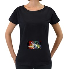 Abstract Music Painting Women s Loose-Fit T-Shirt (Black)