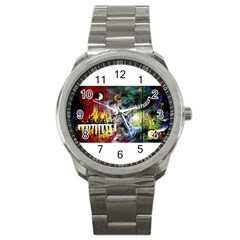 Abstract Music Painting Sport Metal Watches