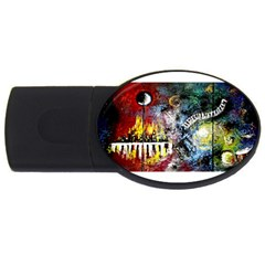 Abstract Music Painting Usb Flash Drive Oval (4 Gb)