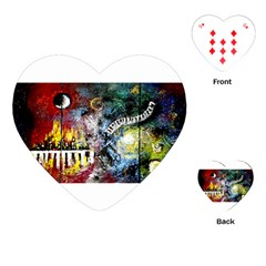 Abstract Music Painting Playing Cards (Heart)