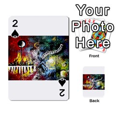 Abstract Music Painting Playing Cards 54 Designs
