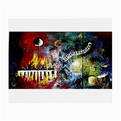 Abstract Music Painting Small Glasses Cloth (2 Side)