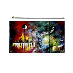 Abstract Music Painting Cosmetic Bag (large)