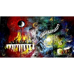 Abstract Music Painting Magic Photo Cubes