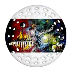 Abstract Music Painting Round Filigree Ornament (2side)
