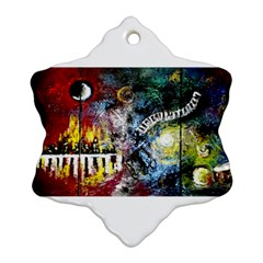 Abstract Music Painting Snowflake Ornament (2-Side)