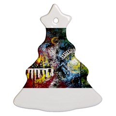 Abstract Music Painting Christmas Tree Ornament (2 Sides)