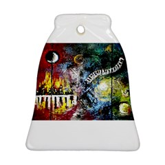 Abstract Music Painting Bell Ornament (2 Sides)