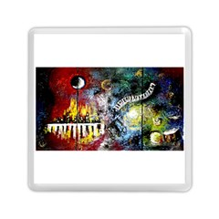 Abstract Music Painting Memory Card Reader (Square)
