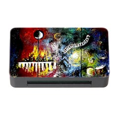 Abstract Music Painting Memory Card Reader With Cf