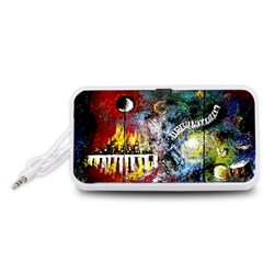 Abstract Music Painting Portable Speaker (White)