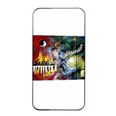 Abstract Music Painting Apple iPhone 4/4s Seamless Case (Black)