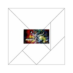 Abstract Music Painting Acrylic Tangram Puzzle (6  X 6 )