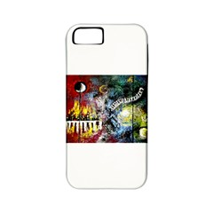 Abstract Music Painting Apple Iphone 5 Classic Hardshell Case (pc+silicone)